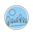 beautiful forest landscape icon