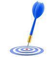 blue dart hitting target vector image vector image