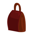 brown backpack icon cartoon style vector image vector image