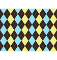 Brown blue yellow argyle seamless pattern vector image