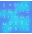 business office line icons set over polygonal vector image vector image