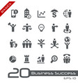 business succsess icons - basics vector image vector image