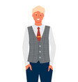 businessman portrait full length isolated vector image vector image