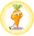 carrot with measuring tape vector image