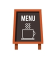 chalkboard coffee restaurant menu vector image