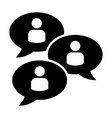 chat group or forum discussion icon vector image vector image
