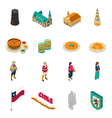 Chile Touristic Attractions Isometric Icons Set vector image vector image