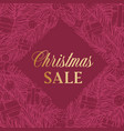 christmas sale discount hand drawn rhombus sketch vector image