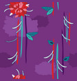 colorful hand drawn floral seamless background vector image