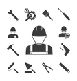 construction worker icons vector image vector image