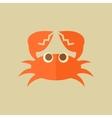 Crab Food Flat Icon vector image vector image