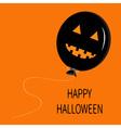 Cute cartoon funny black balloon pumpkin with vector image vector image