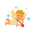 cute little cupid vector image