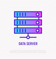 data server thin line icon vector image