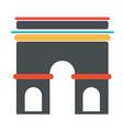 french architecture symbol triumph arch vector image vector image