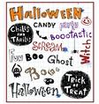Halloween inscriptions vector image vector image