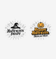 hand drawn halloween lettering symbol holiday vector image vector image