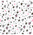 hand drawn seamless pattern with hearts and star vector image vector image