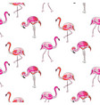 hand drawn sketch pink flamingo seamless pattern vector image vector image