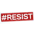 hashtag resist grunge rubber stamp vector image
