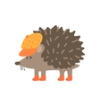 Hedgehog In Yellow Cap Forest Animal Dressed In vector image vector image