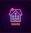 house neon label vector image