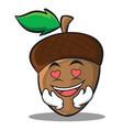 in love acorn cartoon character style vector image vector image