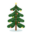isolated evergreen christmas fir tree with vector image vector image