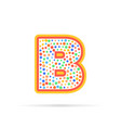 letter b with group of dots and stroke icon vector image vector image