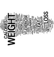 loss weight live a happy lifestyle text vector image vector image