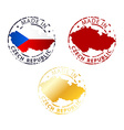 made in czech republic stamp vector image