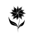 minimalist tattoo flower silhouette art herb vector image vector image