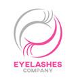 modern eyelashes logo vector image vector image