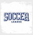 modern professional emblem soccer vector image vector image