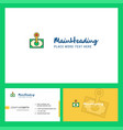 money logo design with tagline front and back vector image vector image