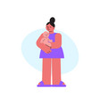 mother and baby composition vector image