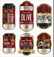 olive oil retro vintage golden background vector image vector image