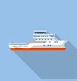 patrol ship icon flat style vector image vector image