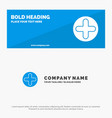 plus sign hospital medical solid icon website vector image vector image