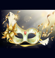precious face carnival mask realistic vector image vector image
