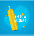 realistic detailed 3d mustard bottle ad poster vector image vector image