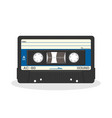 retro audio cassette design isolated on a white vector image vector image