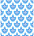 seamless pattern blue and white vector image