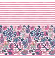 seamless pattern of seashells and marine vector image vector image