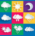 Set of 9 high quality weather icons vector image