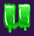slime font type letter u latin alphabet green vector image vector image