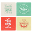 Spring Typography Background Set in Vintage Style vector image vector image
