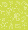summer vacation related seamless outline pattern vector image