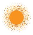 sun icon halftone orange sun circle vector image vector image