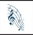 symphony music note design instrumental vector image vector image